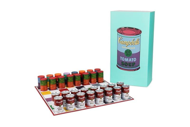 Andy Warhol Campbells Soup Kidrobot Chess Set Art Accessories Games