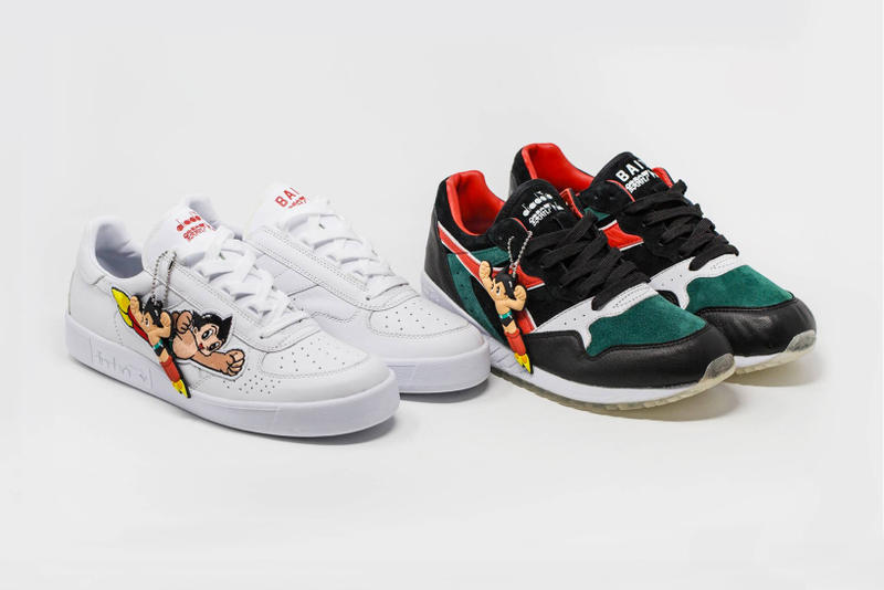 Astro Boy Diadora Intrepid B.Elite BAIT Collection Fall Winter 2017 Footwear Shoes