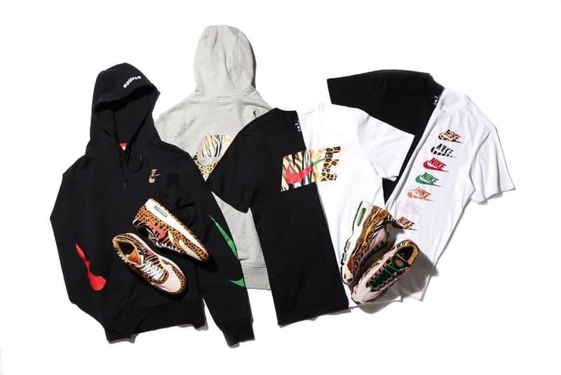 atmos x Nike Animal Pack 2.0 Air Max Day 2018 Drop 95 1 am95 am1 safari zebra print tiger leopard chetah pony swoosh complexcon t-shirt tee hoodie pink black