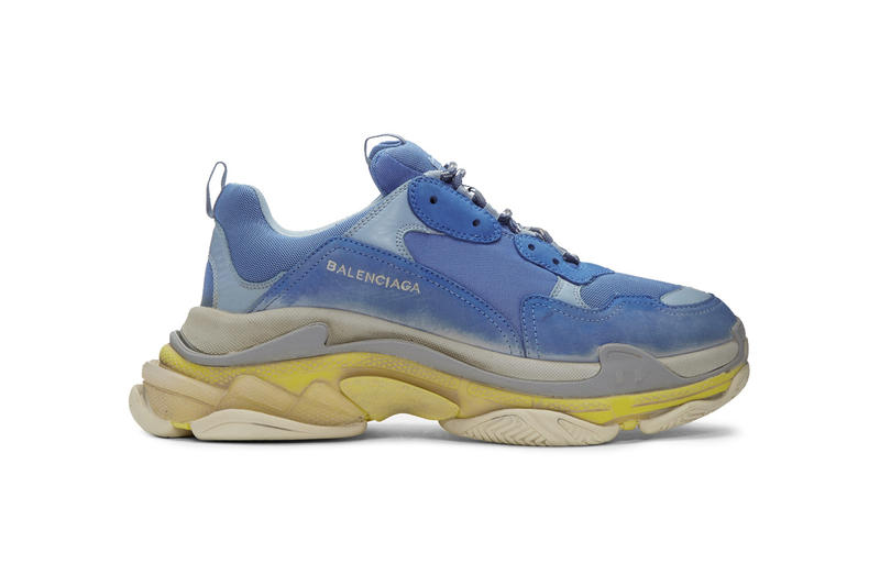 Balenciaga Triple S Sneaker SSENSE Exclusive 2017 November 3 Release Date Info Blue Yellow