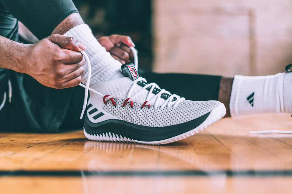 big sale 0ea55 6b1c3 The adidas Dame 4 Will Soon Receive a BAPE Shark Hoodie Makeover