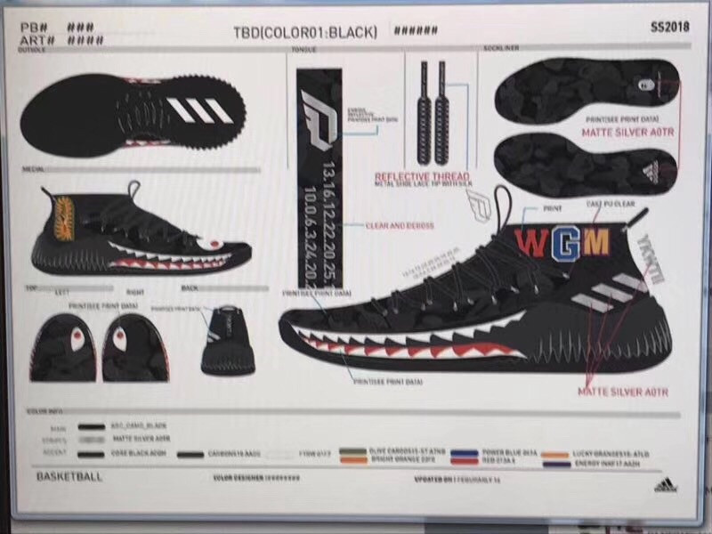 124fc6d8525 BAPE x adidas Dame 4 Shark Hoodie & Camo Pack | HYPEBEAST