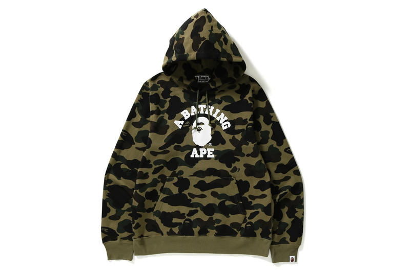 BAPE Apes Together Strong Capsule Collection Facemask Sweatshirt Check Shirt Camo Jacket