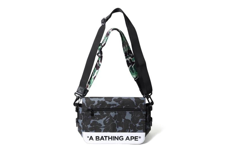 BAPE ABC Double Strap Bag Camo Pink Green Blue November 2017