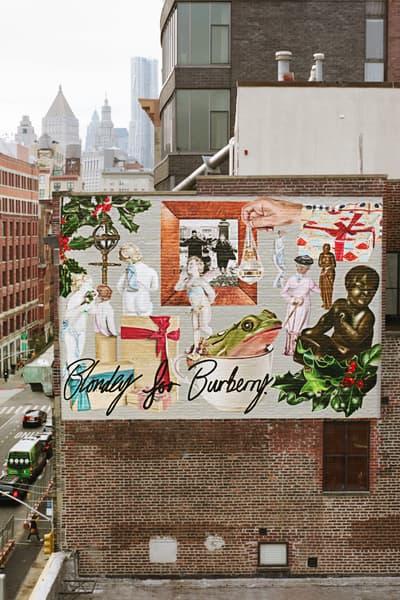 Blondey McCoy Burberry Murals Artwork Street Art Fashion