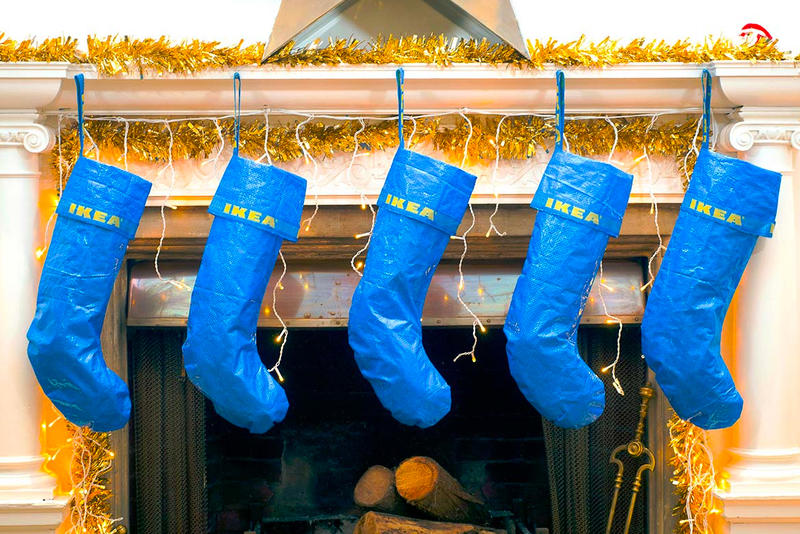 Bootleg Baubles Holiday Decorations Off White IKEA FRAKTA Bag