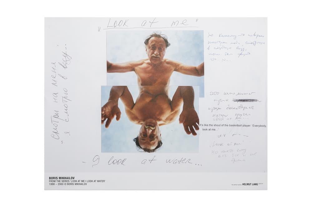 Boris Mikhailov Helmut Lang Artist Series Collaboration 2017 November 21 Release Date Info T-shirts long sleeve short Poster autographed Russia