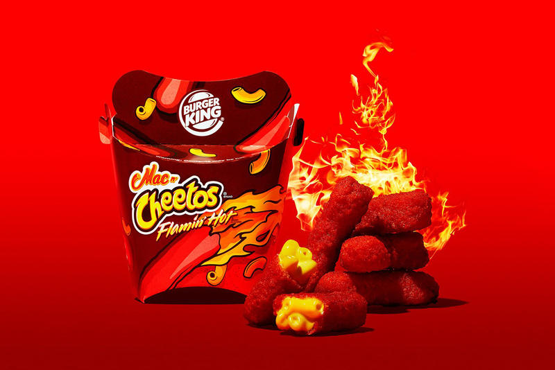 Burger King Flamin Hot Mac n Cheetos 2017 November 29 Unveiled Revealed Introduced macaroni cheese fast food chester