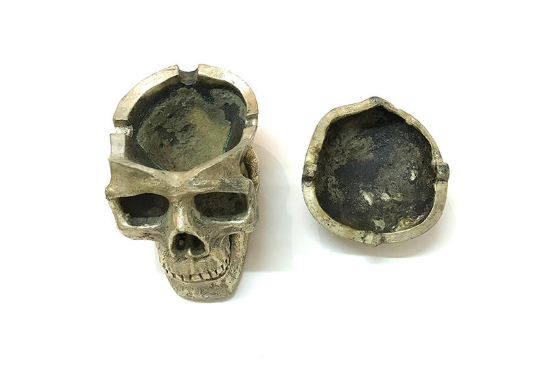 NEXUSVII. Vintage Skull Ashtray Gold