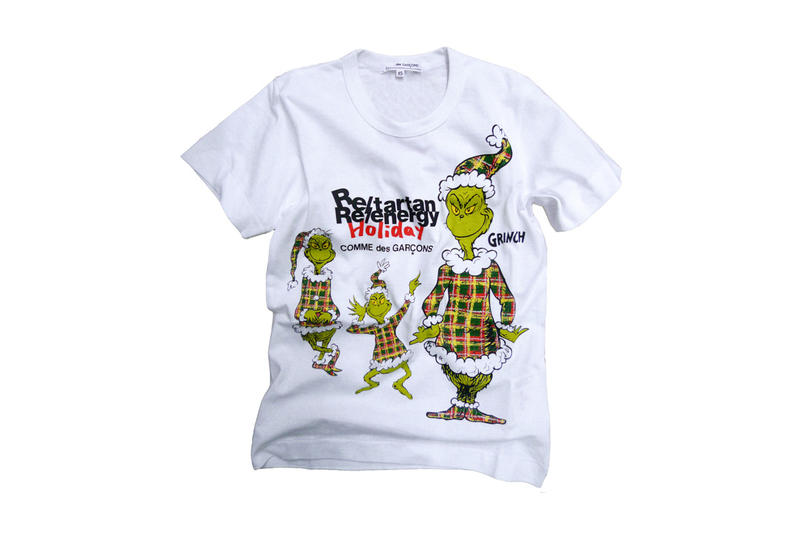 COMME des GARCONS The Grinch T Shirts 2017 Christmas December Release Date Info Dr. Suess Men Women Children Drop Release Date Info Price Japan Tartan Plaid