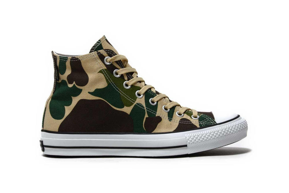 Converse Chuck Taylor All Star GORE TEX Duck Camo Olive Green 2017 November Fall Release Date Info Sneakers Shoes Footwear atmos Tokyo