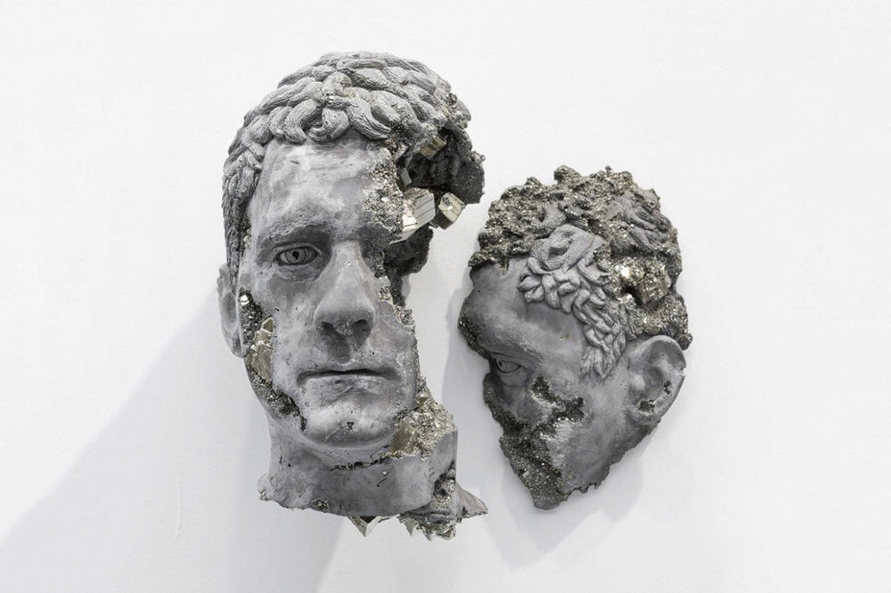 Daniel Arsham Marcus Aurelius Bust Sculpture Volcanic Ash Crystal Future Relic Instagram