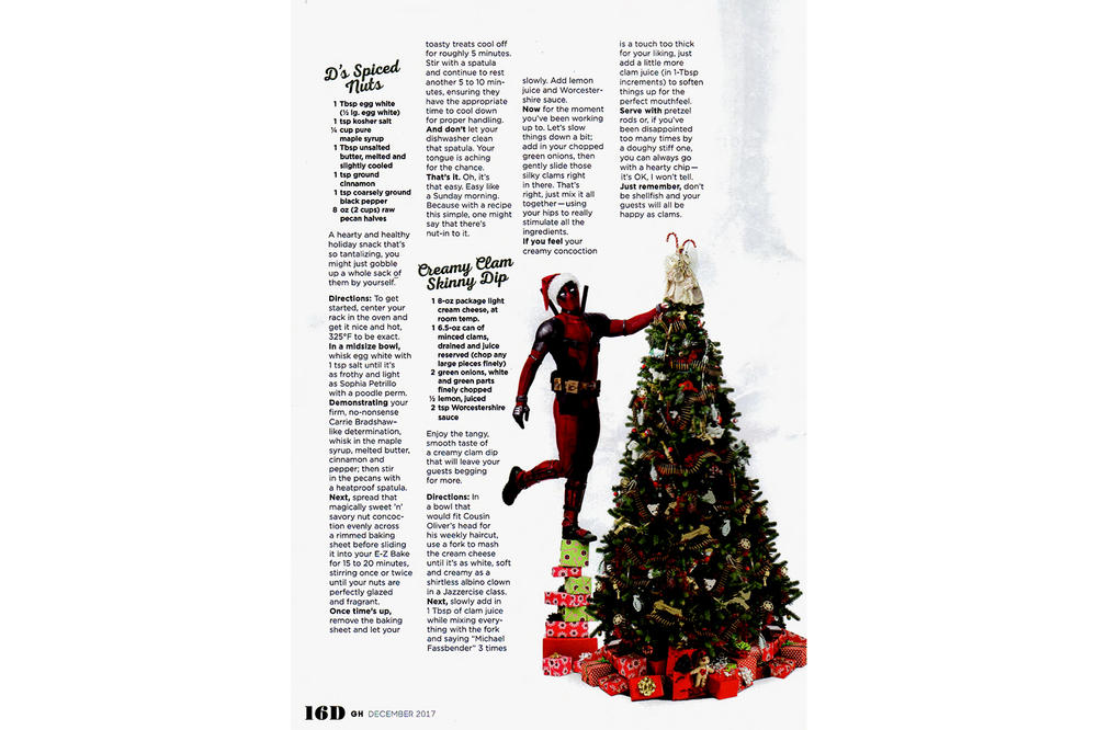 Deadpool 2 Good Housekeeping Cover Thanksgiving Christmas Holidays Ryan Reynolds Wade Wilson