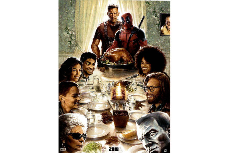 Deadpool 2 Thanksgiving Poster Holiday 2018 Movies Marvel X Men Cable Colossus
