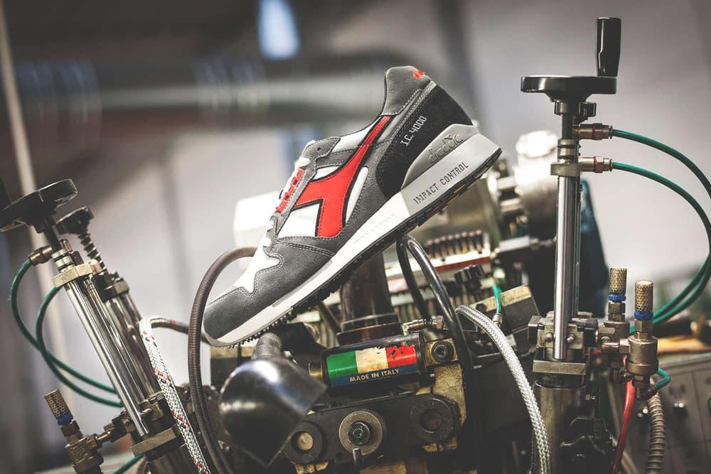 Diadora IC 4000 Made Italy Rerelease Running sneaker shoe red green black white video making of 2017 November 24