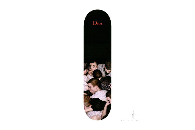 Dior Homme Dan Witz Print Art Artwork Skate Deck The Garage Amsterdam 2017 Fall Winter Collaboration