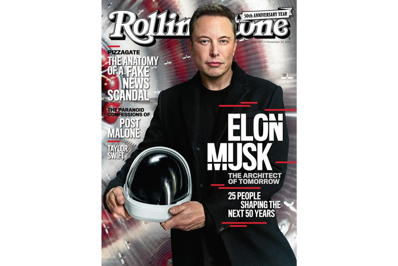 Elon Musk Rolling Stone November 30 2017 Cover Story Interview Shaping the Future SpaceX Tesla Solar City PayPal Kimbal Model 3 Truck Neil Strauss Boring Company