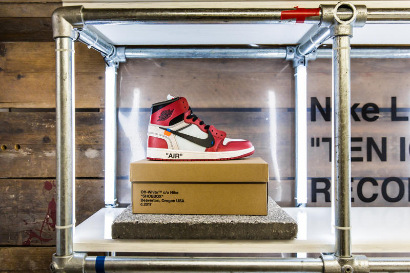 Virgil Abloh Nike The Ten Footpatrol Release Air Jordan 1 Nike Air Max Vapormax