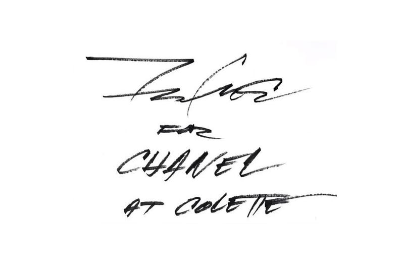 Futura Chanel colette painting live art in-store 2017 November 20