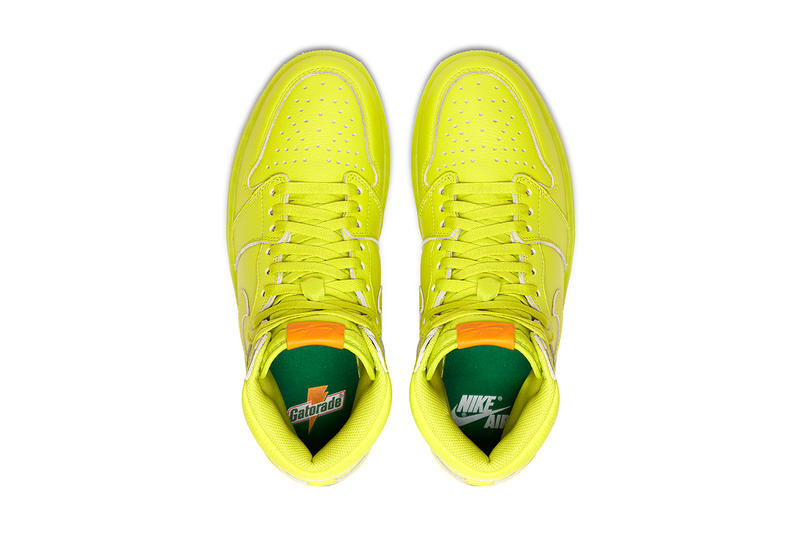 Gatorade Air Jordan 1 Retro High OG G8RD Cyber Lemon Lime 2017 December 26  Release Date b493ca16a