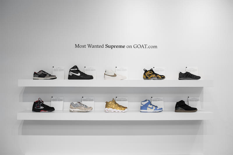 GOAT New York Themed Sneaker Exhibit Pop Up Culver City Supreme Staple Nike Collaboration Shoe Drop The Greatest