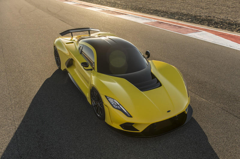 Hennessey Venom F5 Hypercar 1600 Horsepower HP 301 MPH SEMA Las Vegas Fastest Chiron Supercar