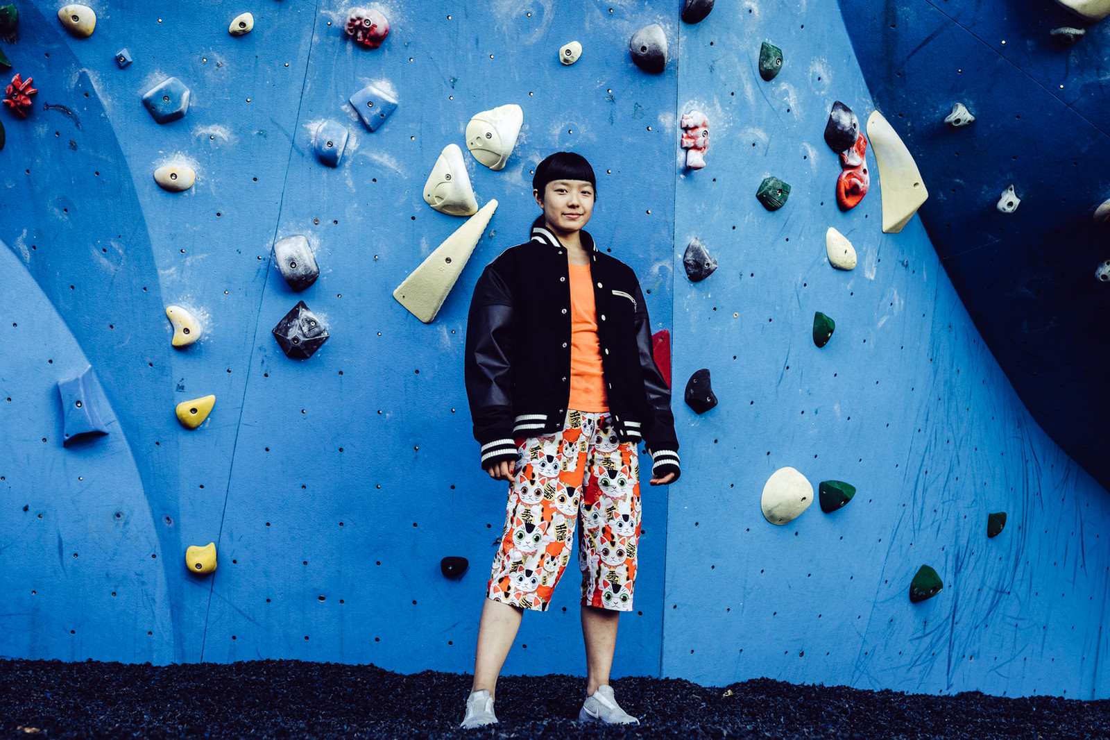 Ashima Shiraishi HIDDEN HYPEBEAST The North Face Rock Climbing Climber Chalk Comme des Garcons Louis Vuitton Shoes Sneakers Hood by Air Nike Air VaporMax Japanese Japan Bouldering