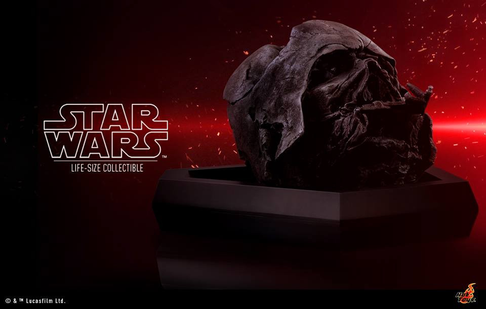 Hot Toys Star Wars Kylo Ren's Life-Size Darth Vader Helmet The Force Awakens Last Jedi Official Shop