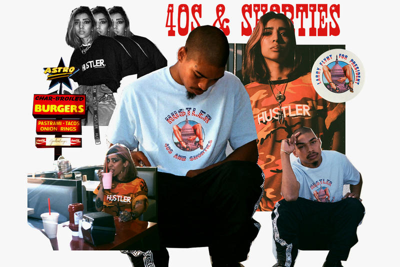 Hustler 40s & Shorties Collection Collaboration 2017 November 4 Release Date Info streetwear porn magazine Larry Flynt