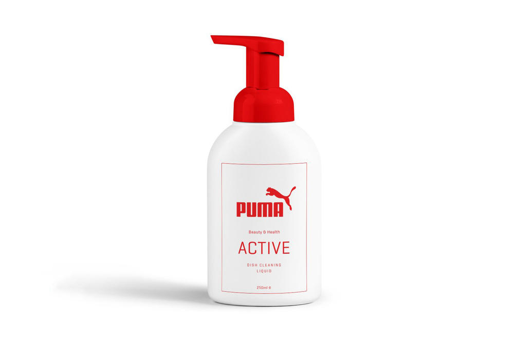 Hyper Markt Nike adidas Puma Reebok Parody Toilet Paper Condoms Dishwashing Liquid Toothbrush