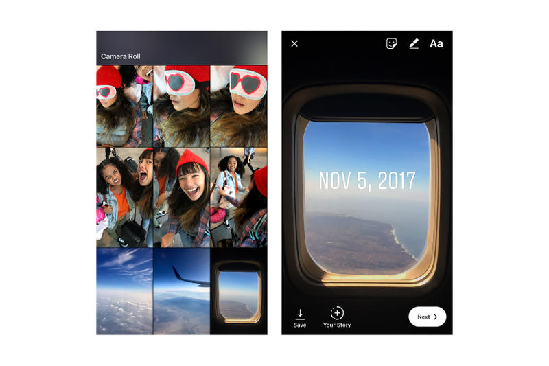 Instagram Stories Upload Older Content 2017 November 8 App Update Snap