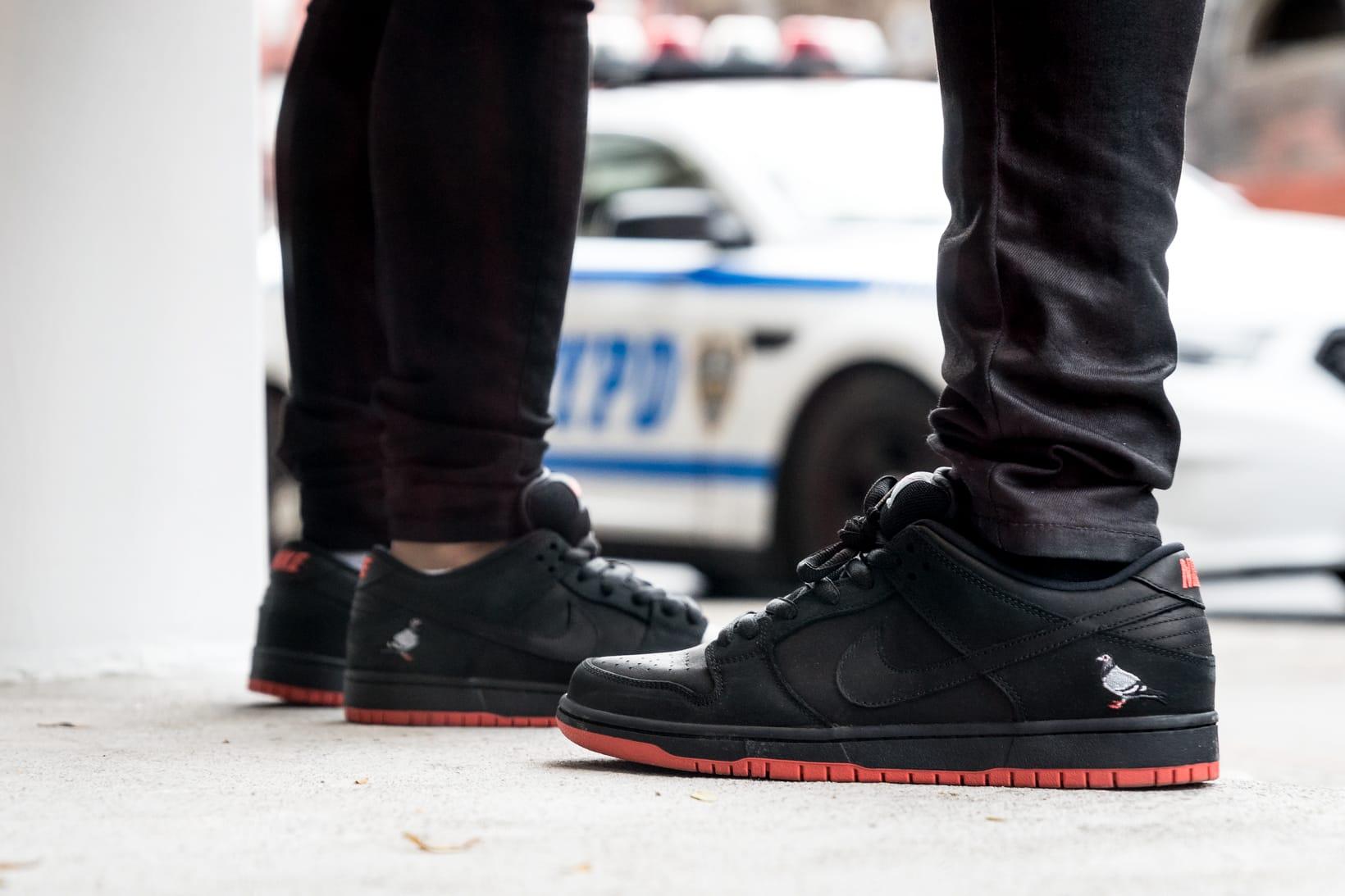 Nike SB Dunk Low Black Pigeon New York