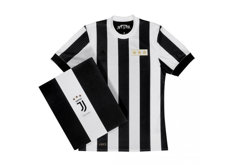 Juventus 120th Anniversary adidas Kit Jersey Shirt Soccer Football Black White Stripes 1897