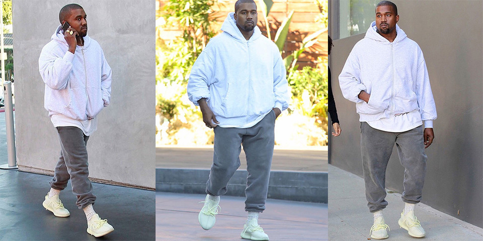 new product 1a6ab 7dab6 Kanye West Wears Unreleased YEEZY BOOST 350 V2   HYPEBEAST