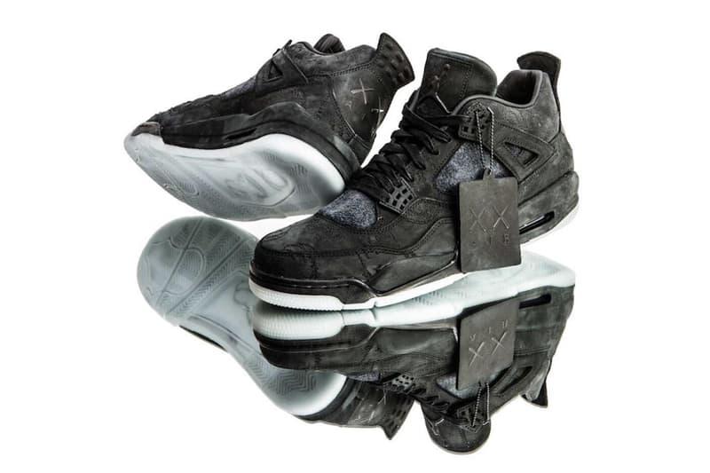 KAWS Air Jordan 4 Release Cyber Monday Drop Date Brand Black Suede 2017 November 27 Nike