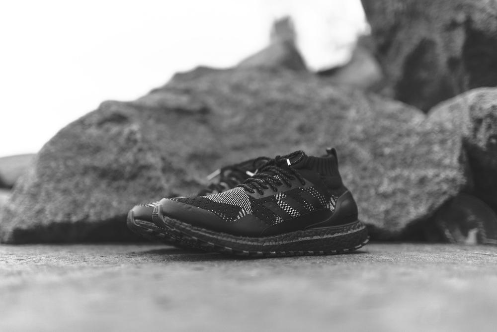 KITH nonnative adidas UltraBOOST Mid Consortium Twinstrike Originals Collaboration Japan United Arrows webstore black patchwork 3m drop release date info time app closer look black friday midnight 2017 november 24 Japan New York Ronnie Fieg KITH App