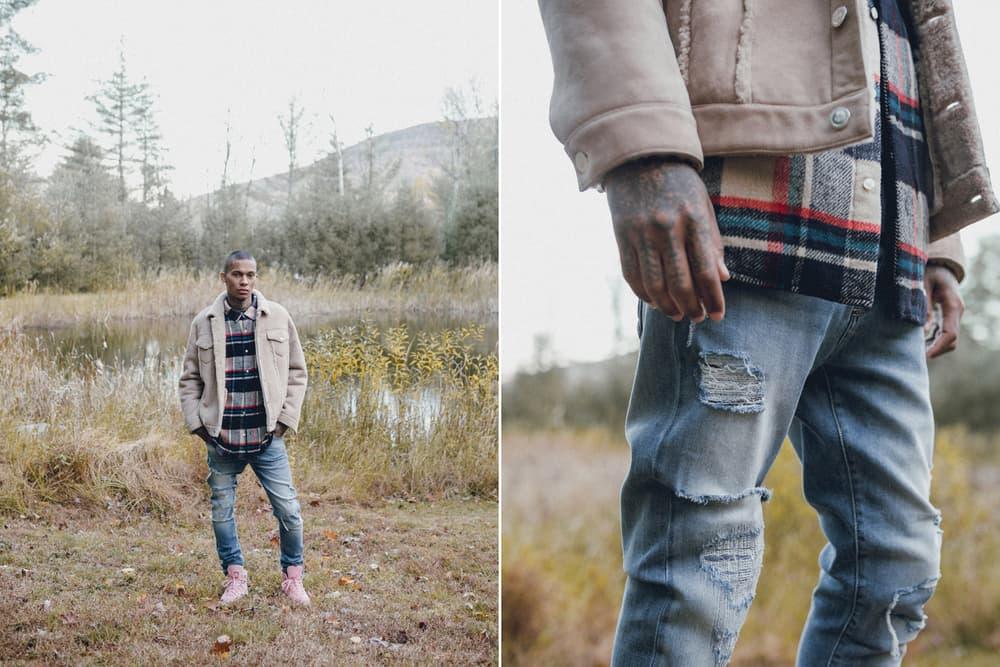 KITH Winter 2017 Lookbook Ronnie Fieg fashion streetwear jacket outerwear coat hoodie camouflage flannel jeans denim Fracap boots hiking