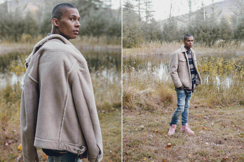 KITH Winter 2017 Lookbook Ronnie Fieg fashion streetwear jacket outerwear coat hoodie camouflage flannel jeans denim Fracap boots hiking