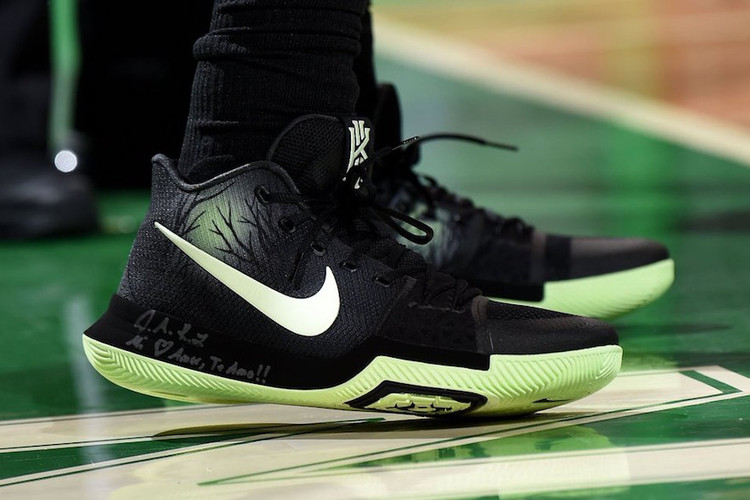 ad5ab0cc9f71 Kyrie Irving Dons Nike Kyrie 3