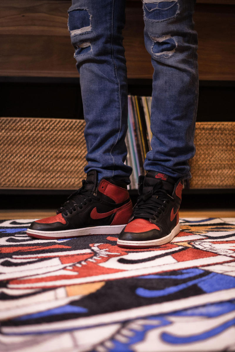 Larry Luk Spilled Nike Air Jordan 1 Rainbow Study Rug Accessories Homeware