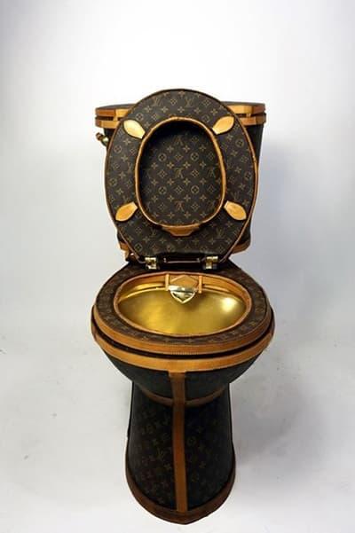 Louis Vuitton Bags Toilet 20 Thousand USD Dollars Illma Gore Tradesy Cut Up Gold