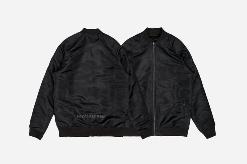 maharishi Reversible Hokkaido Jacket Flight Jacket Silk Embroidery