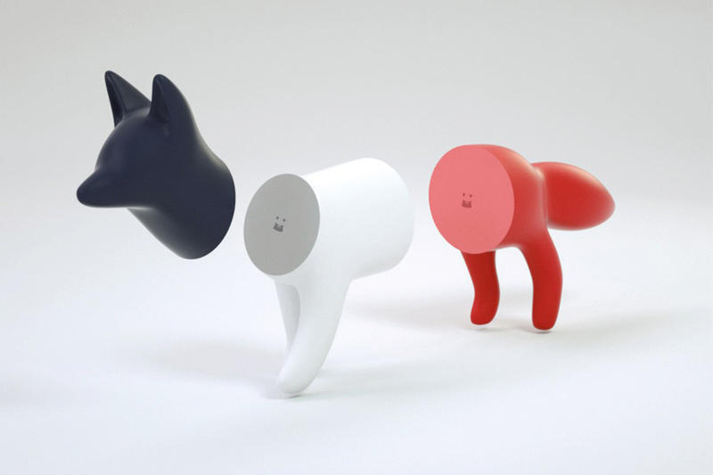 Maison Kitsuné SUPERFICTION Tricolor Toy Fox red white blue