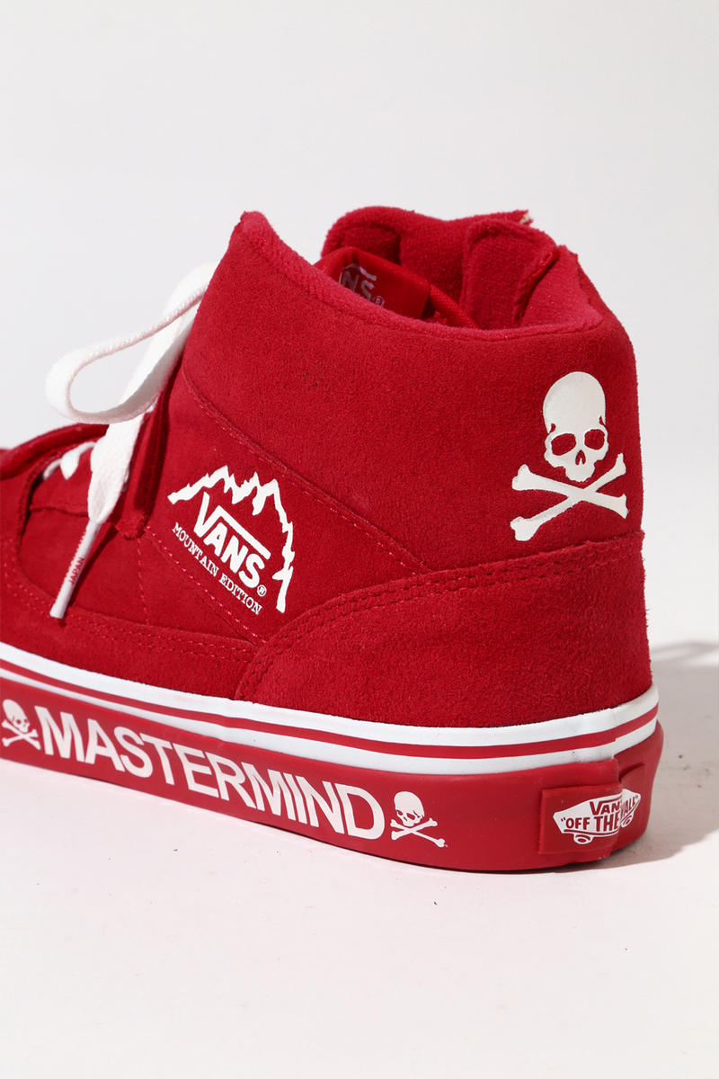 MASTERMIND JAPAN Vans Mountain Edition Sneaker Tokyo Shibuya Exlcusive Collaboration skull WORLD suede zipper
