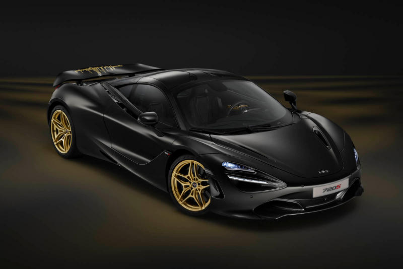McLaren 720S Dubai Skyline Black Gold MSO Custom 1 of 1 One Off 24 karat gold Bruce Quote Skyline Stencil