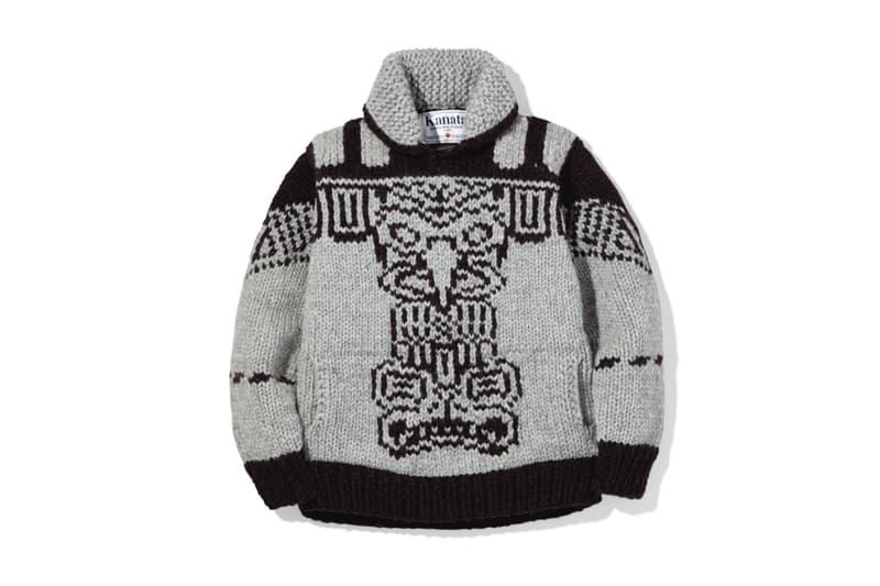 NEIGHBORHOOD Kanata 2017 Fall Winter Wool Cowichan Sweater Canada Totem Pole Japan Outerwear Release Info Date Drops