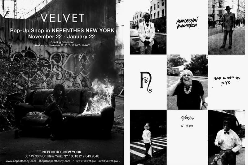 NEPENTHES New York NY Mister Mort Street Style Exhibition Pop Up 2017 November 22 VELVET
