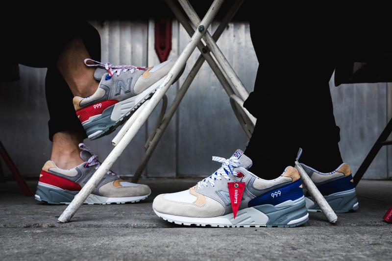 factory price 5e214 a52b5 Concepts New Balance 999 Kennedy Hyannis Closer Look Footwear Red White  Blue Grey Release Date Info