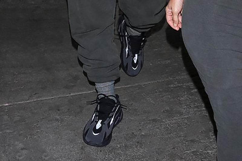 half off 097fc 29d03 YEEZY Wave Runner 700 Black 3M on Kanye West | HYPEBEAST