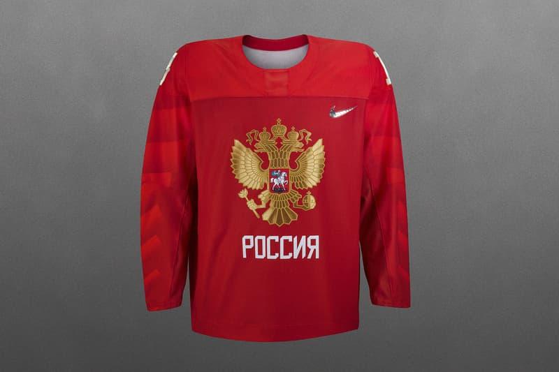 Nike 2018 National Federation Hockey Jerseys USA United States America Canada Russia Korea